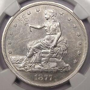 1877 S TRADE SILVER DOLLAR T$1   NGC UNCIRCULATED    DATE UNC BU MS COIN