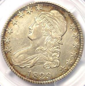 1829/7 CAPPED BUST HALF DOLLAR 50C O 102   PCGS AU DETAILS    OVERDATE