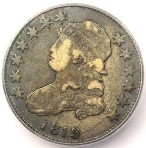1819 B 4 CAPPED BUST QUARTER 25C SMALL 9   CERTIFIED ICG F12    B 4 VARIETY