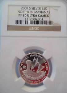2009 S NORTHERN MARIANAS STATE SILVER QUARTER NGC PF 70 ULTRA CAMEO