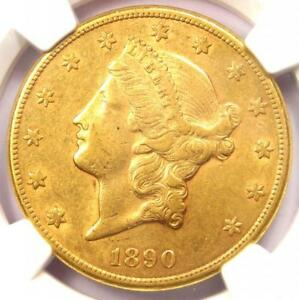 1890 CC LIBERTY GOLD DOUBLE EAGLE $20 COIN   NGC AU50 CAC PQ   $5 500 VALUE