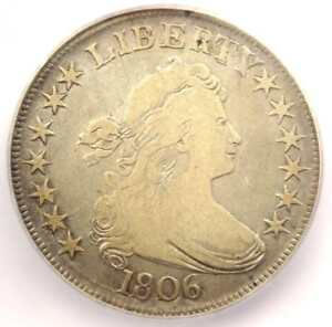 1806 DRAPED BUST HALF DOLLAR 50C COIN   CERTIFIED ICG F12    COIN