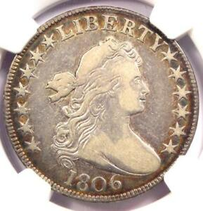 1806 O 113 DRAPED BUST HALF DOLLAR 50C R6   NGC VF20 PQ   RARITY 6   $1475 VALUE