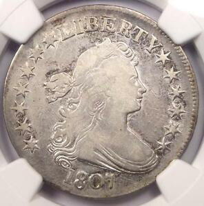 1807 DRAPED BUST HALF DOLLAR 50C   NGC VF DETAILS    CERTIFIED COIN