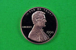 1998 S  DEEP CAMEO LINCOLN PENNY US GEM  PROOF COIN