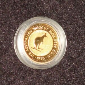 1993 AUSTRALIA 1/20TH TROY OUNCE GOLD NUGGET SERIES GOLD COIN IN CAPSULE