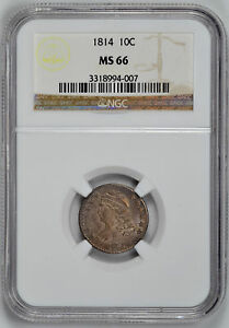Click now to see the BUY IT NOW Price! 1814 CAPPED BUST 10C NGC MS 66