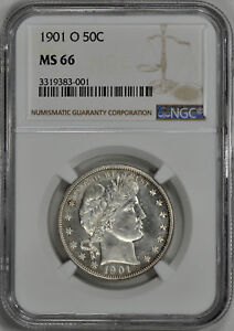 Click now to see the BUY IT NOW Price! 1901 O BARBER 50C NGC MS 66