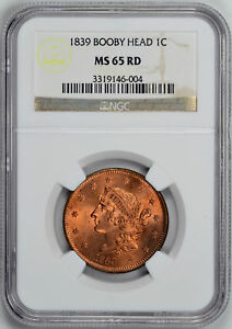 Click now to see the BUY IT NOW Price! 1839 CORONET HEAD 1C NGC MS 65 RD