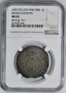 Click now to see the BUY IT NOW Price! 1652 PINE TREE SHILLING NGC MS 65