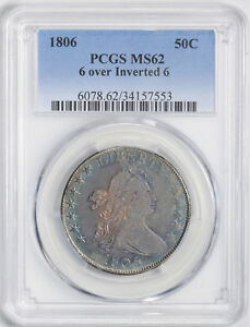 Click now to see the BUY IT NOW Price! 1806 DRAPED BUST 50C PCGS MS 62