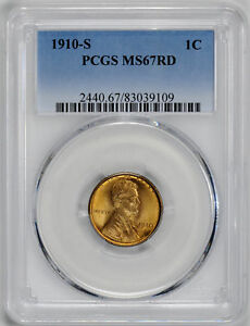 Click now to see the BUY IT NOW Price! 1910 S LINCOLN BRONZE 1C PCGS MS 67 RD