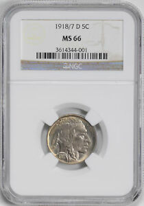 Click now to see the BUY IT NOW Price! 1918/7 D BUFFALO 5C NGC MS 66