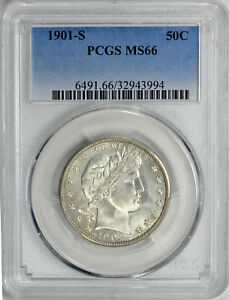 Click now to see the BUY IT NOW Price! 1901 S BARBER 50C PCGS MS 66