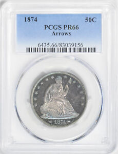 Click now to see the BUY IT NOW Price! 1874 LIBERTY SEATED 50C PCGS PR 66