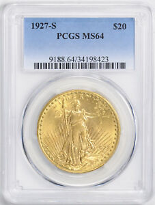 Click now to see the BUY IT NOW Price! 1927 S ST. GAUDENS $20 PCGS MS 64