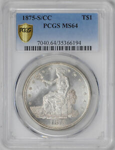 Click now to see the BUY IT NOW Price! 1875 S/CC TRADE T$1 PCGS MS 64
