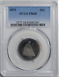 Click now to see the BUY IT NOW Price! 1876 LIBERTY SEATED 25C PCGS PR 68