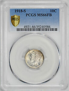 Click now to see the BUY IT NOW Price! 1918 S MERCURY 10C PCGS MS 66 FB