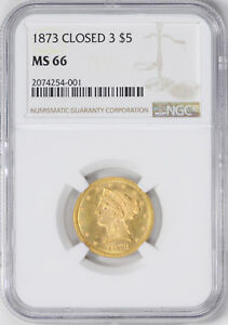 Click now to see the BUY IT NOW Price! 1873 LIBERTY $5 NGC MS 66