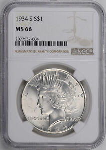 Click now to see the BUY IT NOW Price! 1934 S PEACE $1 NGC MS 66