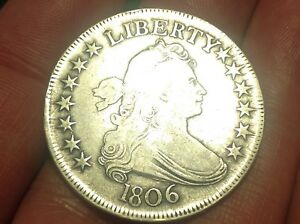 1806 DRAPED BUST HALF DOLLAR 2  DATE NICE COIN & STRONG DETAIL