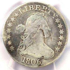 1806 DRAPED BUST QUARTER 25C COIN B 6   CERTIFIED PCGS VG DETAILS    COIN