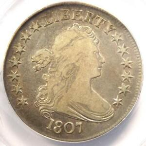 1807 DRAPED BUST HALF DOLLAR 50C   ANACS VF25 DETAILS    CERTIFIED COIN