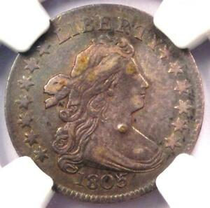 1805 DRAPED BUST DIME 10C JR 2   CERTIFIED NGC VF DETAILS    COIN