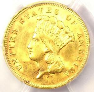 1878 THREE DOLLAR INDIAN GOLD COIN $3   PCGS UNCIRCULATED DETAILS  UNC MS