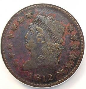 1812 CLASSIC LIBERTY HEAD LARGE CENT 1C S 288 LARGE DATE   NGC XF    KEY