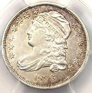 1836 CAPPED BUST DIME 10C JR 1   PCGS AU DETAIL    EARLY DATE CERTIFIED COIN
