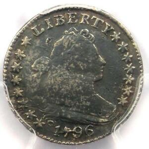 1796 DRAPED BUST DIME 10C JR 6   PCGS FINE DETAILS    FIRST YEAR COIN