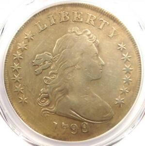 1799 DRAPED BUST SILVER DOLLAR $1 COIN   CERTIFIED PCGS VF DETAIL