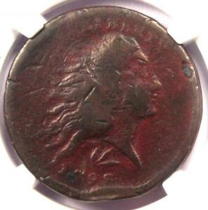 1793 FLOWING HAIR WREATH CENT 1C   CERTIFIED NGC VG DETAIL    COIN