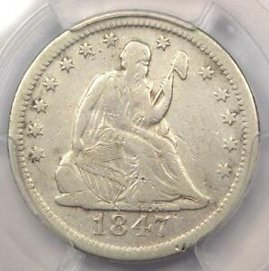 1847 O SEATED LIBERTY QUARTER 25C   CERTIFIED PCGS FINE DETAILS    DATE
