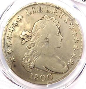 1800 DRAPED BUST SILVER DOLLAR $1   CERTIFIED PCGS FINE DETAILS    COIN