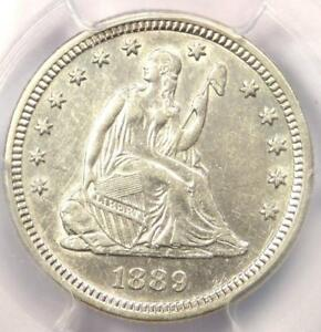 1889 SEATED LIBERTY QUARTER 25C   CERTIFIED PCGS AU DETAILS    DATE COIN