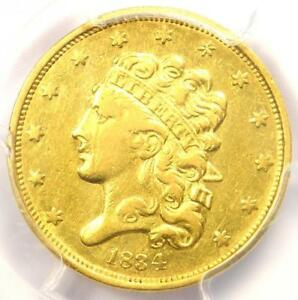1834 CLASSIC GOLD HALF EAGLE $5   PCGS AU DETAIL    CERTIFIED GOLD COIN