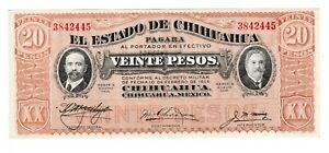 Click now to see the BUY IT NOW Price! 1915 ESTADO DE CHIHUAHUA 5 PESOS P S537 MEXICO MEXICAN REVOLUTION NOTE CRISP UNC