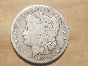 Click now to see the BUY IT NOW Price! 1884 S MORGAN SILVER DOLLAR LIBERTY HEAD $1 COIN NICE