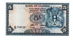 Click now to see the BUY IT NOW Price! 1966 UGANDA 5 SHILLINGS NOTE UGANDAN SHILINGI TANO P 1 SHILLING UNCIRCULATED CU
