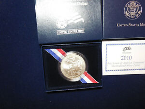 2010 BOY SCOUTS UNC SILVER DOLLAR WITH BOX AND COA  BL2