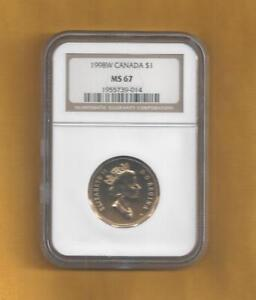 1998 W CANADA $1 LOON NGC MS 67