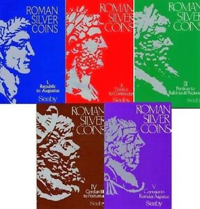 ROMAN SILVER COINS   ALL VOLUMES 1 5   H.A.SEABY   PDF