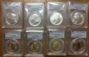 Click now to see the BUY IT NOW Price! 8 PIECE SET   2015 CHRONICLES REVERSE PROOF DOLLAR/MEDAL PCGS PR70 FIRST STRIKE