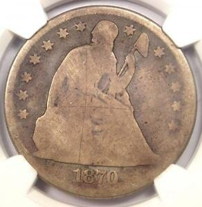 1870 CC SEATED LIBERTY DOLLAR $1   NGC GOOD DETAILS    CARSON CITY COIN
