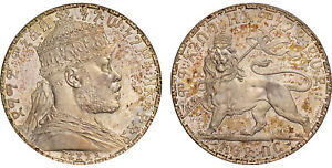 Click now to see the BUY IT NOW Price! ETHIOPIA. MENELIK II. 1892 AR BIRR. NGC PR66 KM19 SUPERBLY TONED GEM PROOF