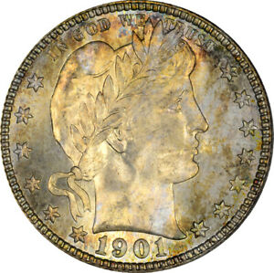 Click now to see the BUY IT NOW Price! 1901 S 25C BARBER QUARTER PCGS MS67  CAC