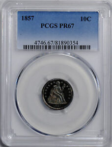 Click now to see the BUY IT NOW Price! 1857 LIBERTY SEATED 10C PCGS PR 67